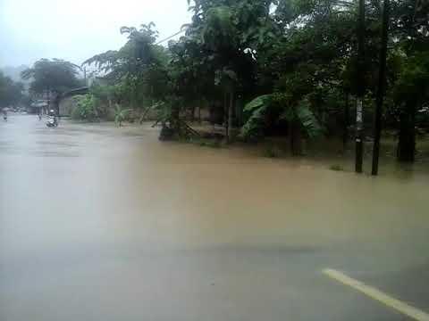 Hujan lebat akibatkan banjir di desa rangkah,buayan kebumen