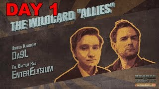 Hearts of Iron 4 - Waking the Tiger - Three Day War - Great Britain and the Wildcard Allies - Day 1
