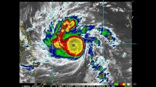超級颱風 黑格比 (1422) (色調強化衛星雲圖) --- 年度最強颱風,強襲菲律賓