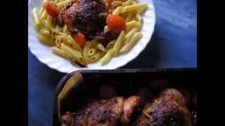 Куриные  бедра  в масле  с чесноком. № 23, Простые  рецепты  ,  вкусная  еда!