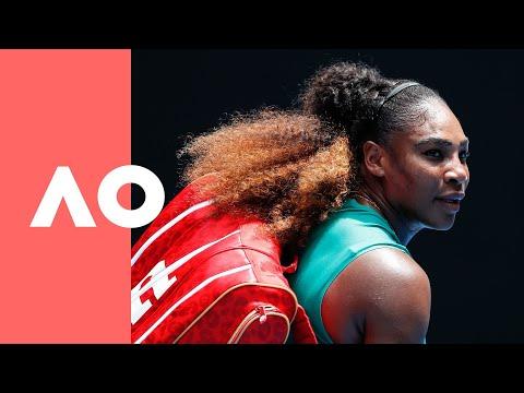 Simona Halep V Serena Williams On-court Warm Up (4R) | Australian Open 2019