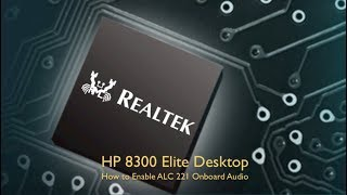 Enable ALC221 Audio on the HP 8300 Elite by Mac OS X Videos