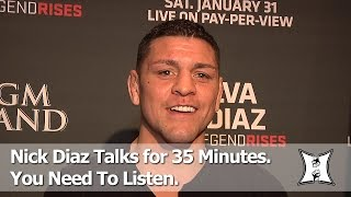 Win Or Lose, Nick Diaz Says He Expects An A** Whupping From Anderson Silva AtUFC 183