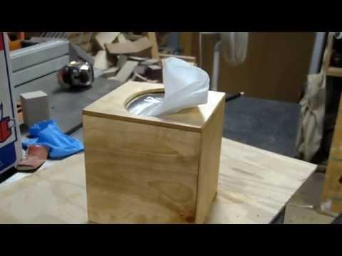 """GPW 11 - Wooden Tissue Box (""""Failure - as an Option"""")"""