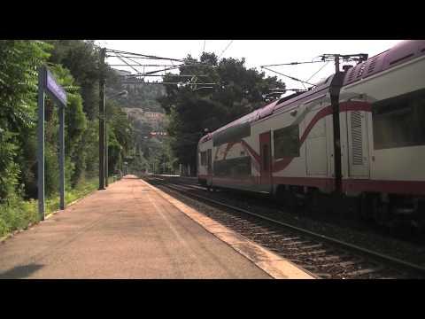 Trains entre Monaco et Menton