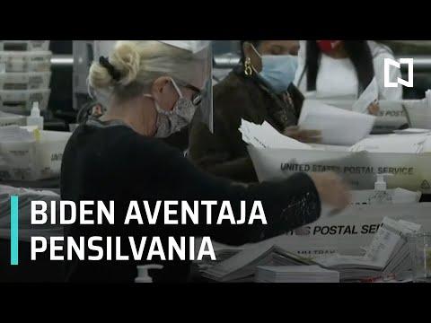 Joe Biden aventaja en Pensilvania - Las Noticias
