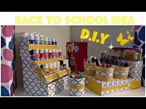 DIY Acrylic Paint Organizer - Nail Polish organizer - Back To School - CARDBOARD IDEAS