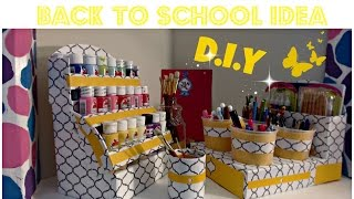 DIY Acrylic Paint Organizer - Nail Polish organizer - Back To School - CARDBOARD IDEAS