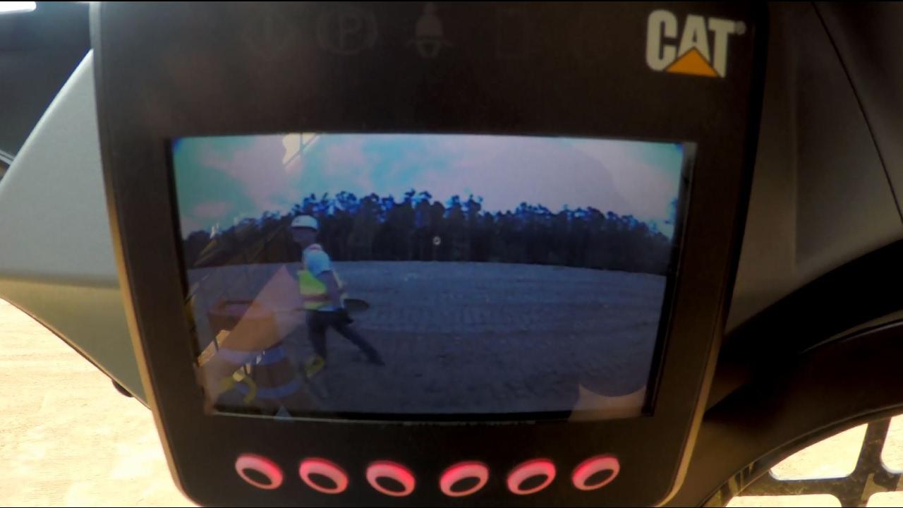 Rearview Camera on Cat® D Series Skid Steer Loaders, Multi Terrain Loaders  and Compact Track Loaders