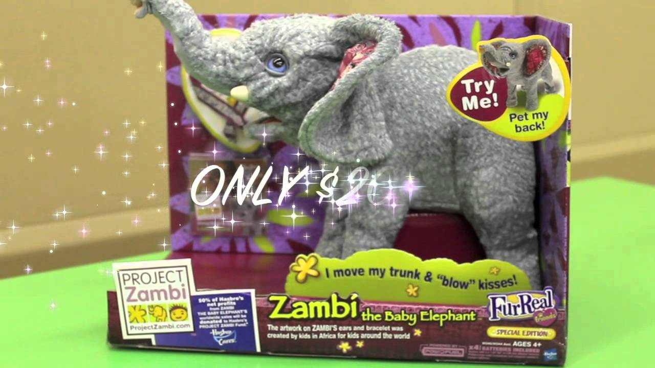 Toy Warehouse Zambi The Baby Elephant Youtube