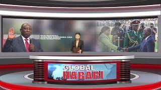 GLOBAL HABARI MEI 25: JPM Ashuhudia Kuapishwa kwa RAMAPHOSA /Ampiga Picha na Mstaafu KIKWETE