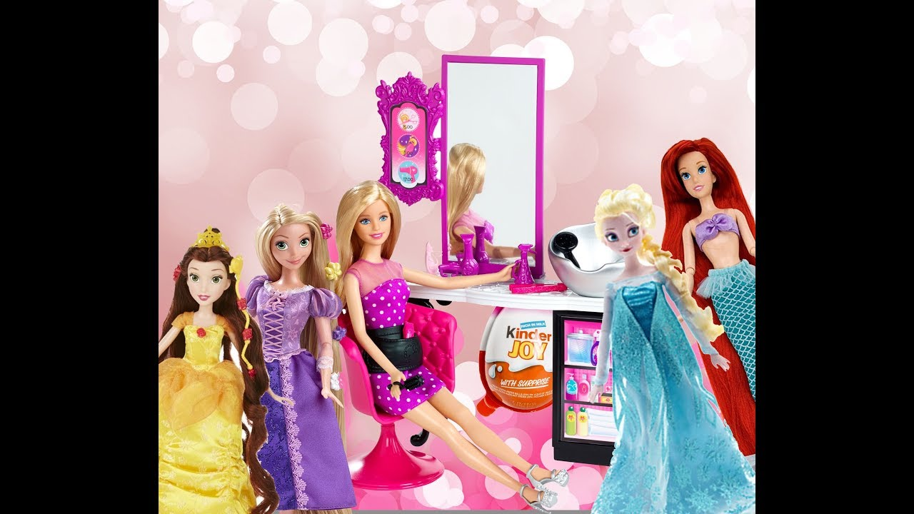 Elsa Frozen Princess Ariel Belle Rapunzel Barbie Hair
