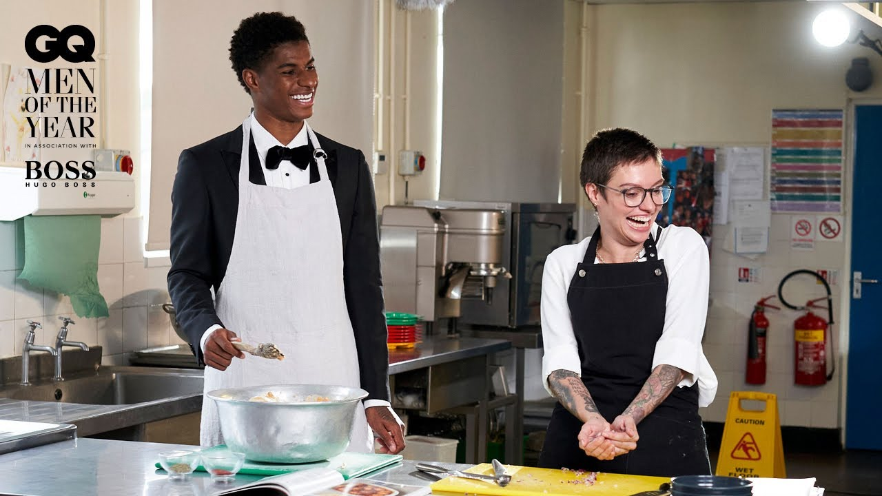 Marcus Rashford makes school dinners with Jack Monroe  Men Of The Year 2020