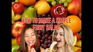 DIY Holiday Fruit Salad Tutorial