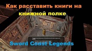 Как расставить книги на книжной полке в библиотеке дома собраний Золотого ока Sword Coast Legends