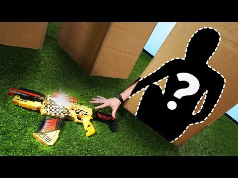 NERF Hide in a Box Challenge!