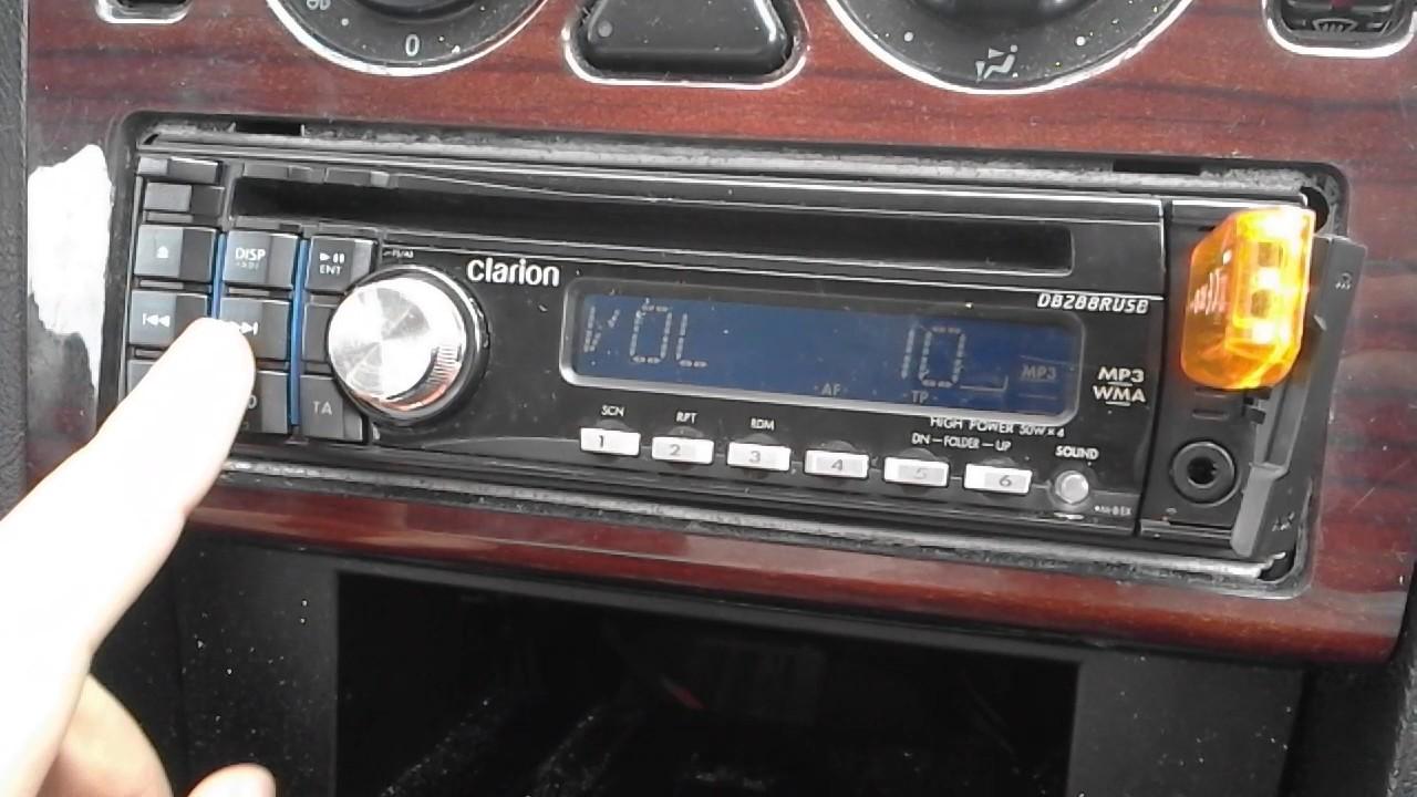 radio samochodowe clarion usb aux cd mp3 test car. Black Bedroom Furniture Sets. Home Design Ideas