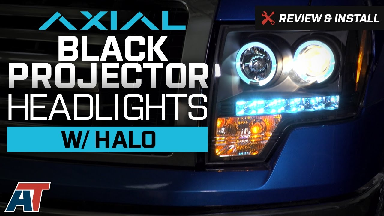 2009-2014 F150 Axial Black Projector Headlights w/ Halo Review & Install