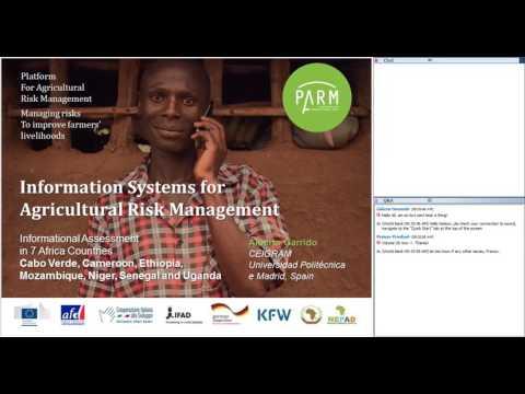 PARM & FARM D Webinar on Information Systems for Agricultural Risk Management