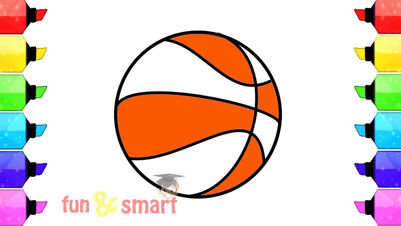 Cara Menggambar Dan Mewarnai Bola Basket