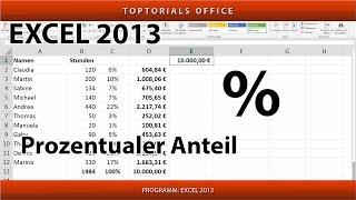 Prozentualen Anteil berechnen (Excel)