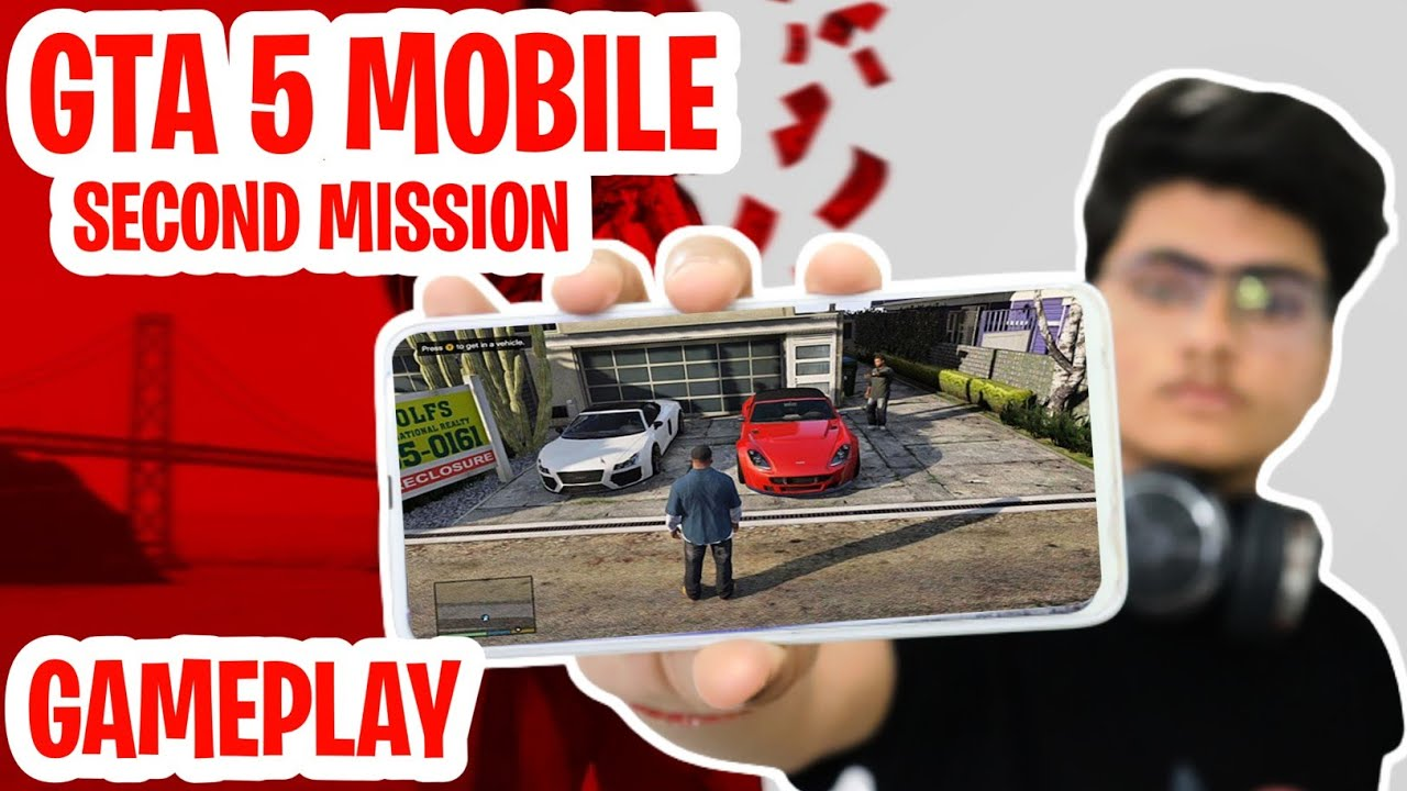 GTA 5 MOBILE SECOND MISSION   ALTERNATE GAMEPLAY   DOWNLOAD NOW