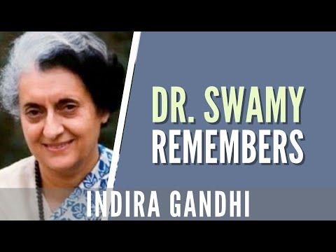 Swamy remembers Indira Gandhi
