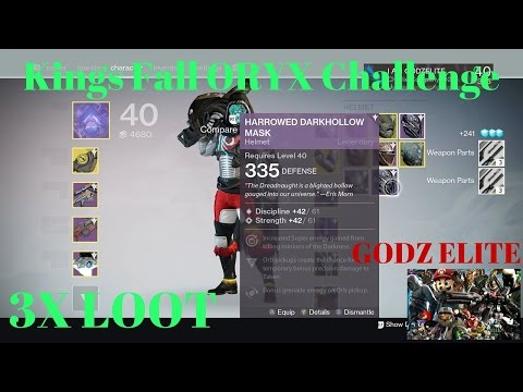 Destiny Kings Fall Oryx Challenge with 3x Loot, Strat for Better Gear.