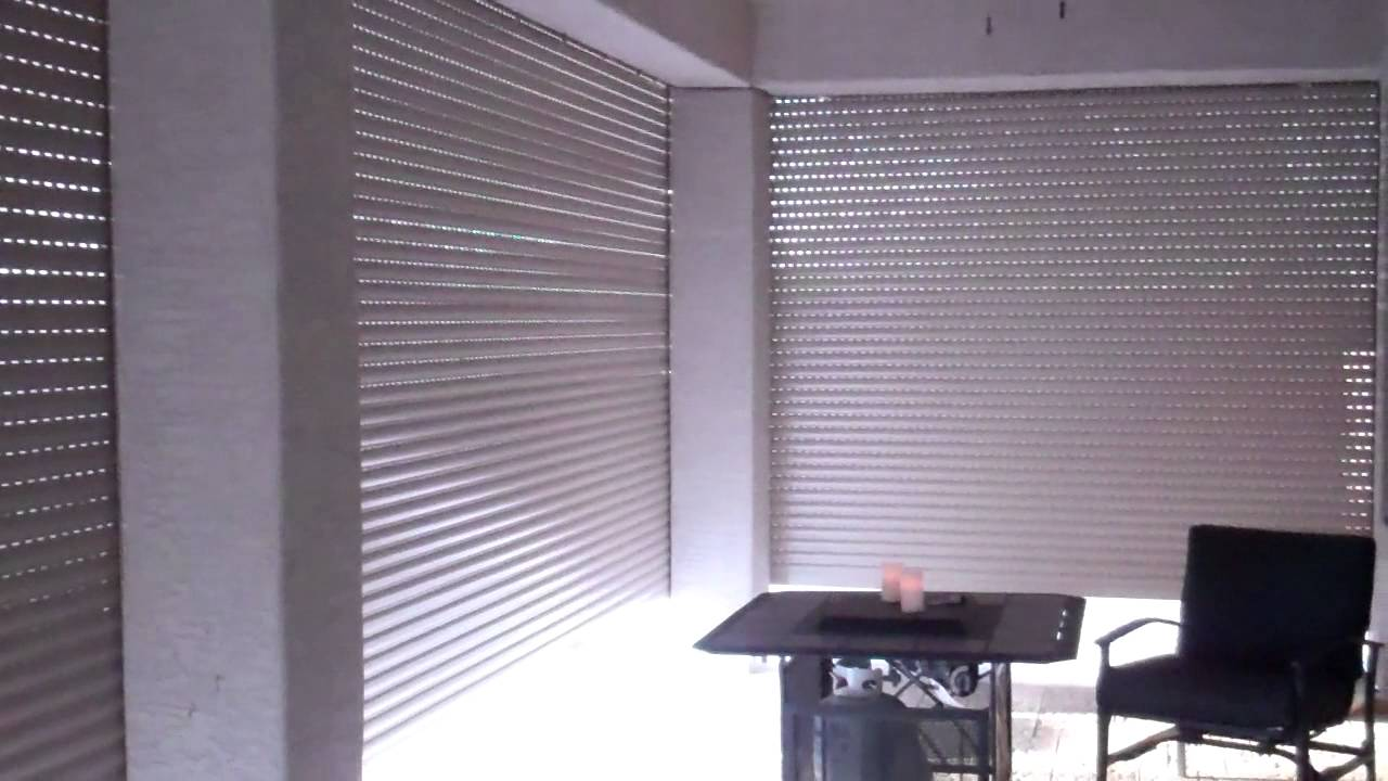 Rolling Shutter Security Shutter Patio Enclosure Youtube