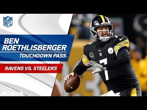 Antonio Brown's Ridiculous Catch-'n-Run Sets Up Big Ben's TD Pass! | Ravens vs. Steelers | NFL Wk 14
