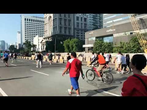 Jakarta Car-Free Sunday at Jalan Sudirman