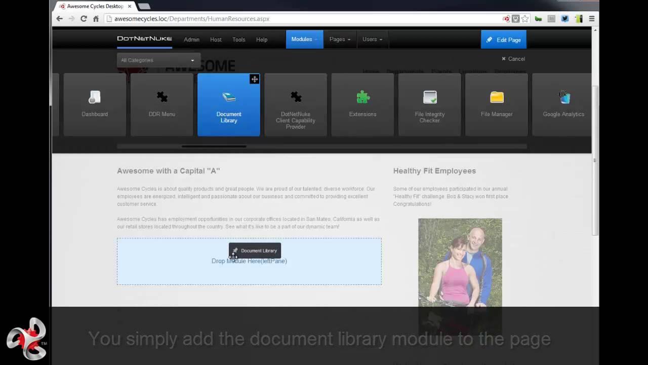 DotNetNuke: Restricting Views in the Document Library Module - YouTube