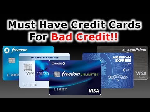 5 Must Have Credit Cards | Scores Below 600