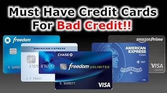 5 Must Have Credit Cards | Scores Below 600