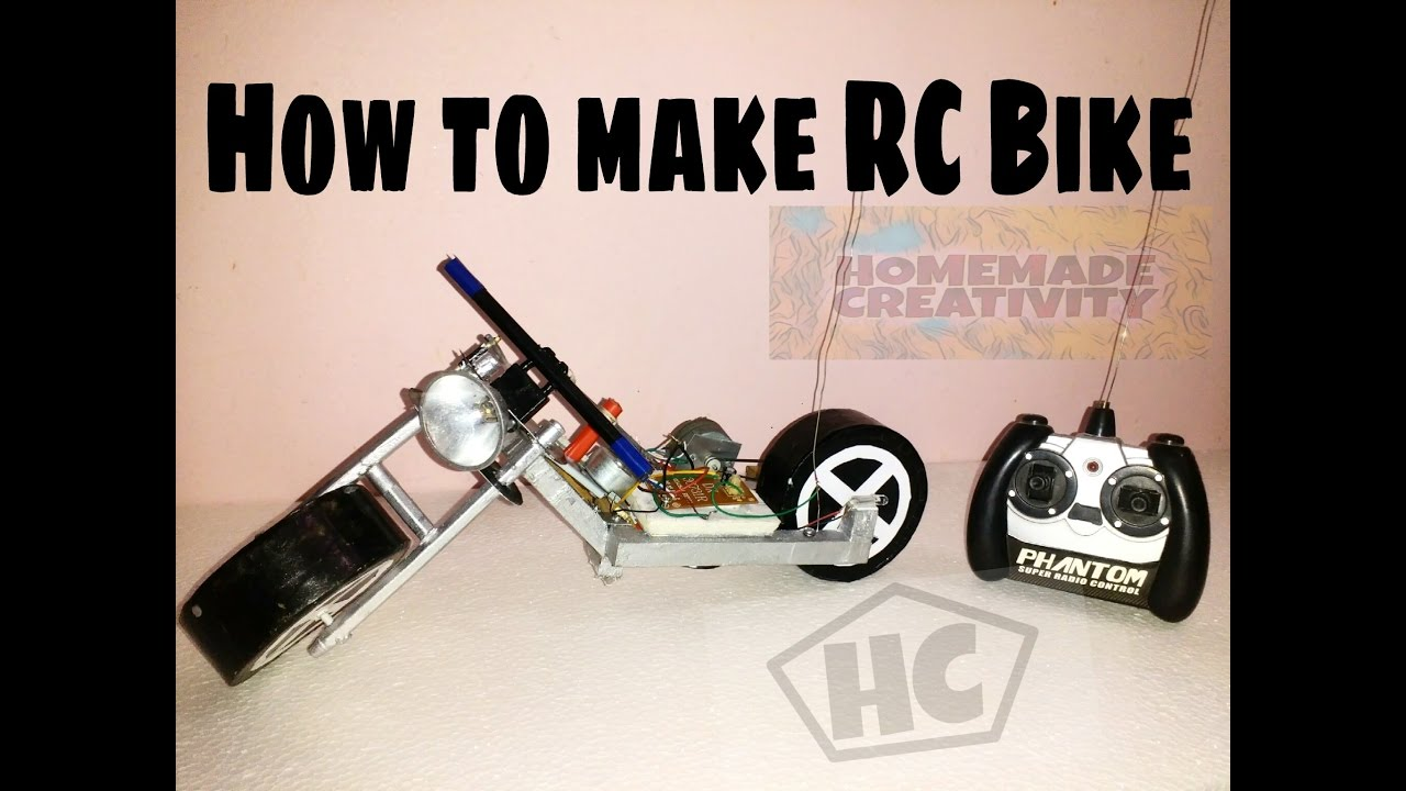 How to make rc motorcycle at home easy and fast youtube for How to build a house cheap and fast