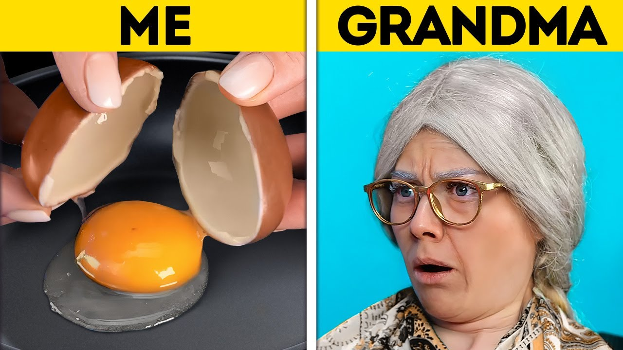 ME VS. GRANDMA || Jaw-Dropping TIK TOK Challenges, Magic Tricks, Experiments And Prank Ideas