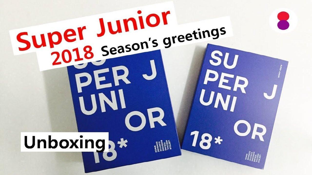 Super Junior 2018 Seasons Greetings Unboxing