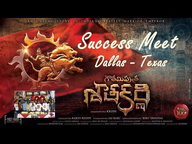 Cake Cutting at Balakrishna - Gautamiputra Satakarni success meet in Dallas, Texas