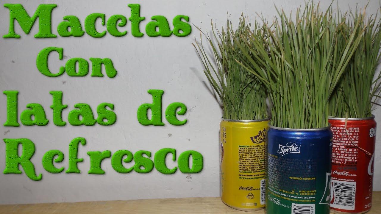 Reciclaje planta pasto en latas de refresco - Reciclar latas de refresco ...