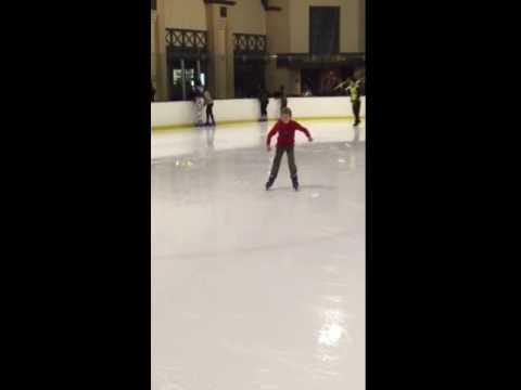 Joshua and Hannah ice skating