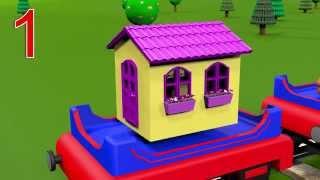 Развивающие мультфильмы для детей от 1 года  Учимся считать от 1 до 10 с паровозиком Чух Чухом