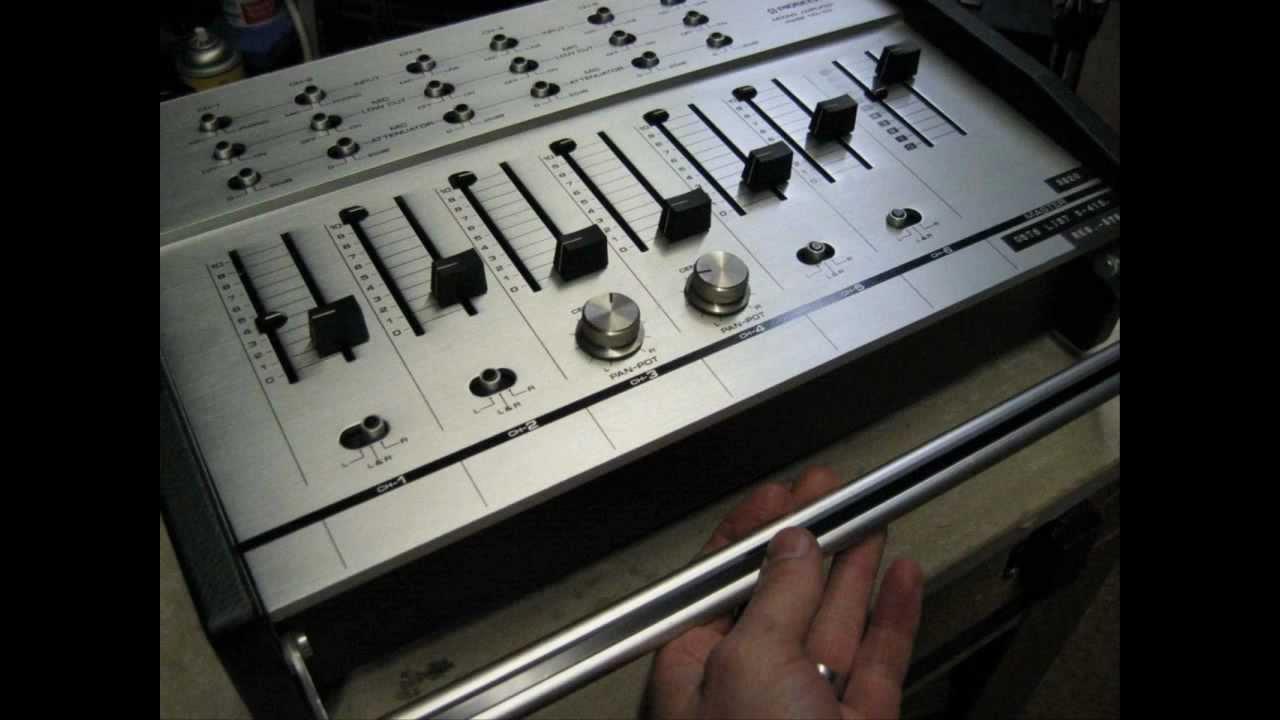 Nib Pioneer Ma 62 Mixing Board Youtube