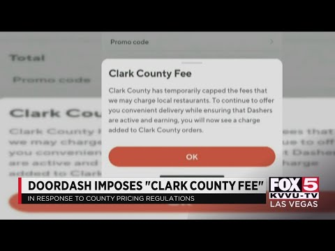 DoorDash starts 'Clark County fee,' county says it misrepresents them