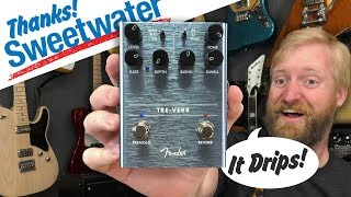 Sweetwater HOOK-UP! - Fender Tre-Verb - 60 Cycle Hum demo/review - Does it drip? yeah, it drips dude