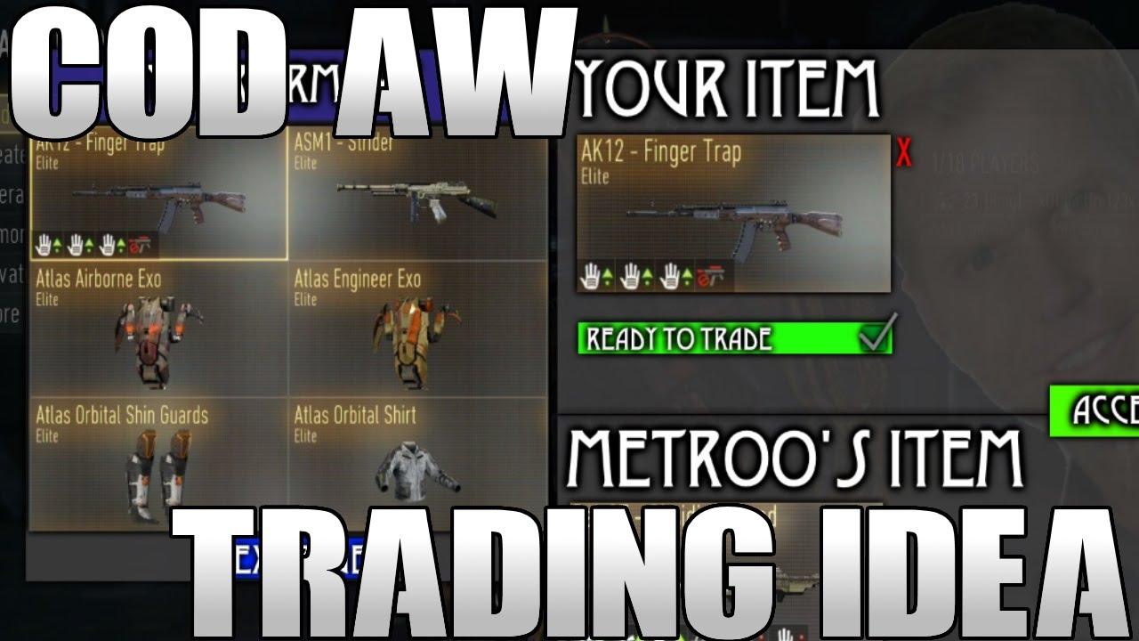 Cod aw weapon trading system