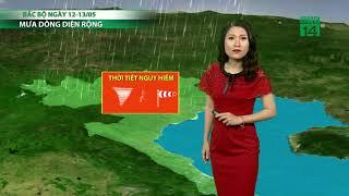 VTC14 | Thời tiết cuối ngày 10/05/2018 | Hòa Bình, Bắc Ninh, Hải Phòng mưa với lượng từ 10 đến 30mm