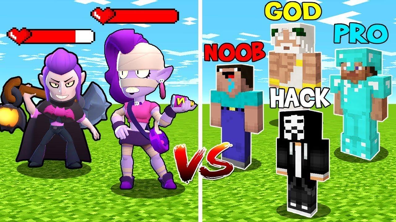 Minecraft: EMZ & MORTIS BOSS BRAWLER FIGHT - NOOB vs PRO vs HACKER vs GOD in Minecraft! Animation