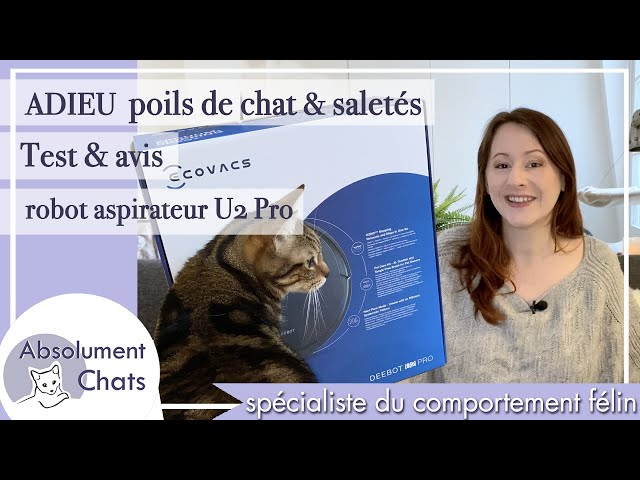 Adieu poils de chat et poussière - test et avis Robot Ecovacs Deebot U2 PRO