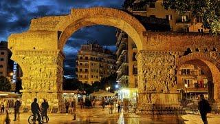 One night in Thessaloniki Greece in 4K