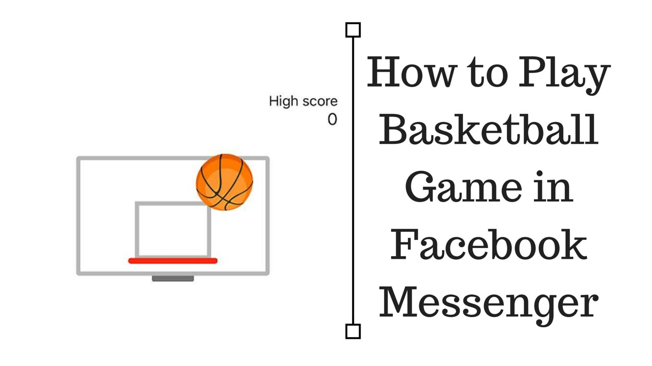 How to Play Basketball Game in Facebook Messenger - YouTube